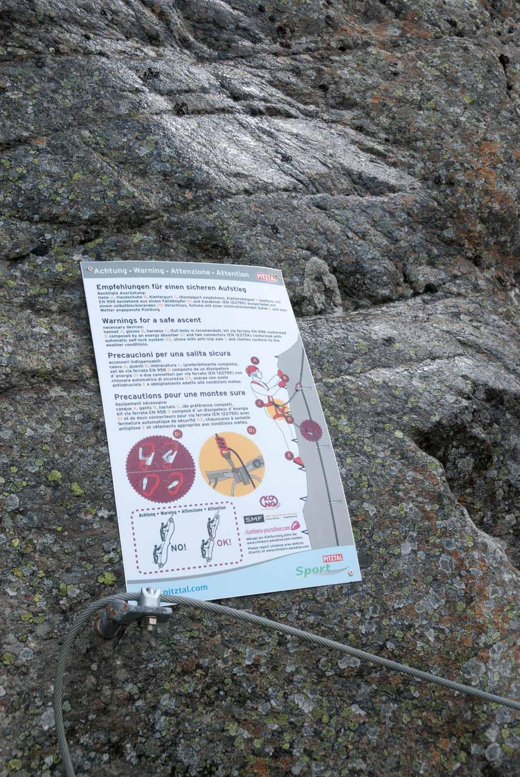 Pitztaler Steinbock Klettersteig Seilbrücke extreme Route